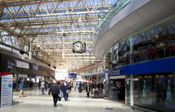 LONDON, UK - MAY 14, 2014 - Waterloo international station Stock Photo