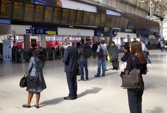 LONDON, UK - MAY 14, 2014 - Waterloo international station Stock Photography