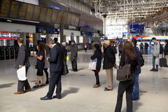 LONDON, UK - MAY 14, 2014 - Waterloo international station Stock Images