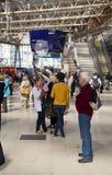 LONDON, UK - MAY 14, 2014 - Waterloo international station Royalty Free Stock Images