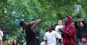 Young Black Male Dancing Hip Hop Style