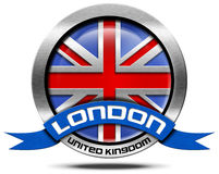 London UK - Metal Icon Royalty Free Stock Photo