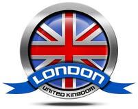 London UK - Metal Icon Royalty Free Stock Photo