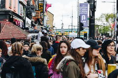 London, UK - 2nd of April, 2017: Camden Lock Village, famous alt Royalty Free Stock Photos