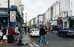 London, UK - 2nd of April, 2017. Notting Hill neighborhood and c Royalty Free Stock Photos