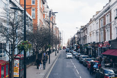 London, UK - 2nd of April, 2017. Notting Hill neighborhood and c Royalty Free Stock Photo