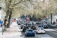 London, UK - 2nd of April, 2017. Notting Hill neighborhood and c Royalty Free Stock Images