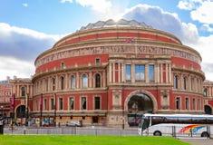 Royal Albert Hall South Kensington London UK. LONDON, UK - NOV 1, 2012: The Royal Albert Hall concert hall victorian exterior pictured from Kensington Gardens Royalty Free Stock Photography