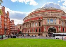 Royal Albert Hall South Kensington London UK. LONDON, UK - NOV 1, 2012: The Royal Albert Hall concert hall victorian exterior pictured from Kensington Gardens Stock Photos