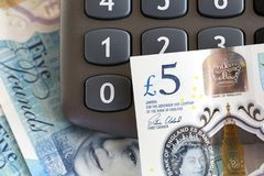 British Currency - Five Pound Note Royalty Free Stock Photography