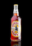LONDON, UK - NOVEMBER 01, 2016: Cold bottle of Newcastle Brown Ale beer. Launched in 1927 by Colonel Jim Porter after the merger o. F Newcastle Breweries with Stock Photo