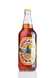 LONDON, UK - NOVEMBER 01, 2016: Cold bottle of Newcastle Brown Ale beer. Launched in 1927 by Colonel Jim Porter after the merger o. F Newcastle Breweries with Royalty Free Stock Photo