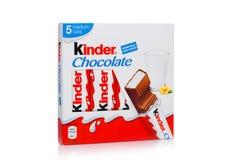 LONDON, UK - November 17, 2017: Kinder chocolate bar box on white.Kinder bars are produced by Ferrero founded in 1946. LONDON, UK - November 17, 2017: Kinder royalty free stock photos