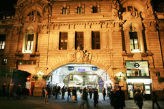 Outside View of London Victoria Station Stock Images