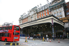Outside View of London Victoria Station Stock Image