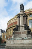 LONDON, UK - OCTOBER 15: Back of the Royal Albert Hall with stat Royalty Free Stock Photography