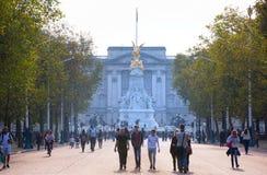 Buckingham palace. London, UK. LONDON, UK - OCTOBER 4, 2016: Buckingham palace view from the Pall mall Stock Image
