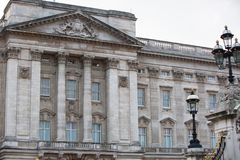 Buckingham palace. London, UK. LONDON, UK - OCTOBER 4, 2016: Buckingham palace view from the Pall mall Stock Photos