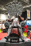 LONDON, UK - OCTOBER 26: Castelvania's Dracula statue inside the Royalty Free Stock Photo