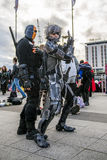 LONDON, UK - OCTOBER 26: Cosplayer dressed as a  Raiden from Met Stock Photography
