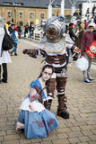 LONDON, UK - OCTOBER 26: Cosplayers dressed as Big Daddy and Lit Stock Photo