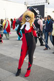LONDON, UK - OCTOBER 26: Cosplayers dressed as a  Harley Quinn f Stock Photography