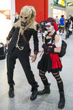 LONDON, UK - OCTOBER 26: Cosplayers dressed as a  Harley Quinn a Stock Photography
