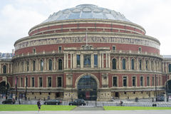 LONDON, UK - OCTOBER 15: Facade of the Royal Albert Hall with Ke. Nsington Gore street in front. October 15, 2013 in London Stock Photos