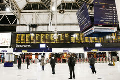 Inside view of London Waterloo Station Stock Image