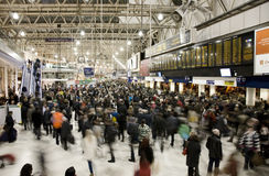 Inside view of London Waterloo Station Stock Images