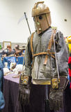LONDON, UK - OCTOBER 26: Steampunk rocketeer outfit in the Comic Royalty Free Stock Image