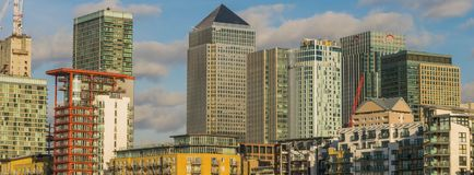 LONDON, UK - October 17th, 2017: Canary Wharf business district in London. royalty free stock photo