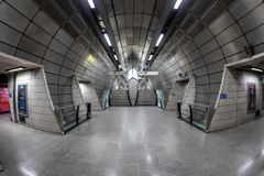 The futuristic architecture of the London underground royalty free stock photography
