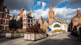 Brown Hart Rooftop Gardens, Mayfair, London. LONDON, UK - 5 OCTOBER 2017: A view of Brown Hart rooftop gardens in the affluent inner city residential area of stock photo