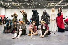 LONDON UK - OKTOBER 26: Cosplayers klädde som tecken från t royaltyfria bilder
