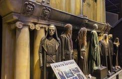 London UK; Oktober 23, 2013; Warner Bros Studios London turnerar, med uppsättningarna och det original- materialet av de Harry P royaltyfria bilder