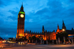 London, UK. Palace of Westminster at night with Royalty Free Stock Photo