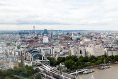 LONDON, UK. Panoramic view of London from London Eye Royalty Free Stock Photo