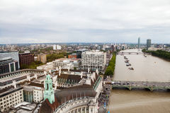 LONDON, UK. Panoramic view of London from London Eye Stock Photo