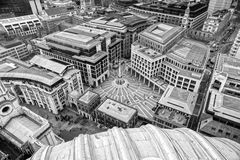 London, Uk. Paternoster Square, view from St. Paul, London royalty free stock image