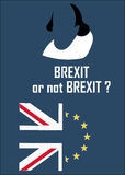 London, UK, 04.28.2016. Poster representing the debate on the exit of the European Union, also called Brexit Royalty Free Stock Photography
