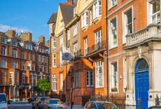London, UK. Residential aria of Kensington and Chelsea. Cadogan gate with row of periodic buildings. Luxury prop Stock Photos