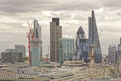 London, UK. The rise of modern architecture, st pauls, london, england Royalty Free Stock Images