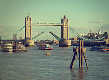 London UK, River Thames. Raised for tourist boat. Royalty Free Stock Image
