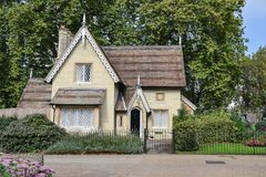 London, UK, September 19, 2014, beautiful house in Hyde Park. royalty free stock photo