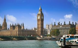 London cityscape with Big Ben on a sunny day Royalty Free Stock Image