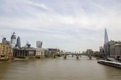 London cityscape across the River Thames seen from Bankside. London, England, UK, September 1,. LONDON, UK - SEPTEMBER 1, 2018. London cityscape across the River royalty free stock image