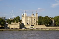 London cityscape across the River Thames with a view of the Tower of London, England, UK,. LONDON, UK - SEPTEMBER 1, 2018. London cityscape across the River royalty free stock photography