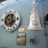 LONDON/UK - 12 SEPTEMBER: De Klok van het Schip van HMS Belfast in Londen  Stock Afbeeldingen