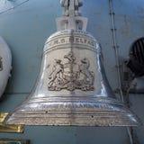 LONDON/UK - 12 SEPTEMBER: De Klok van het Schip van HMS Belfast in Londen  Stock Fotografie